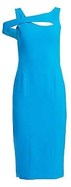 Theia Women's Sleeveless Cut-Out Crepe Cocktail Dress