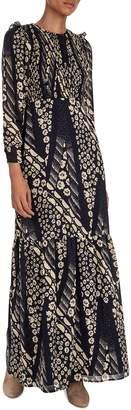 BA&SH Mixed-Print Maxi Dress