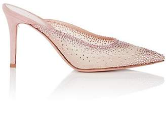 Gianvito Rossi Women's Mesh & Suede Mules - Pink