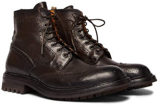 Officine Creative Exeter Leather Brogue Boots
