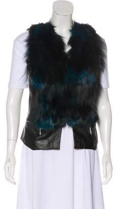 Love Token Casual Fur Vest Black Casual Fur Vest
