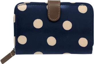 Cath Kidston Button Spot Folded Zip Wallet