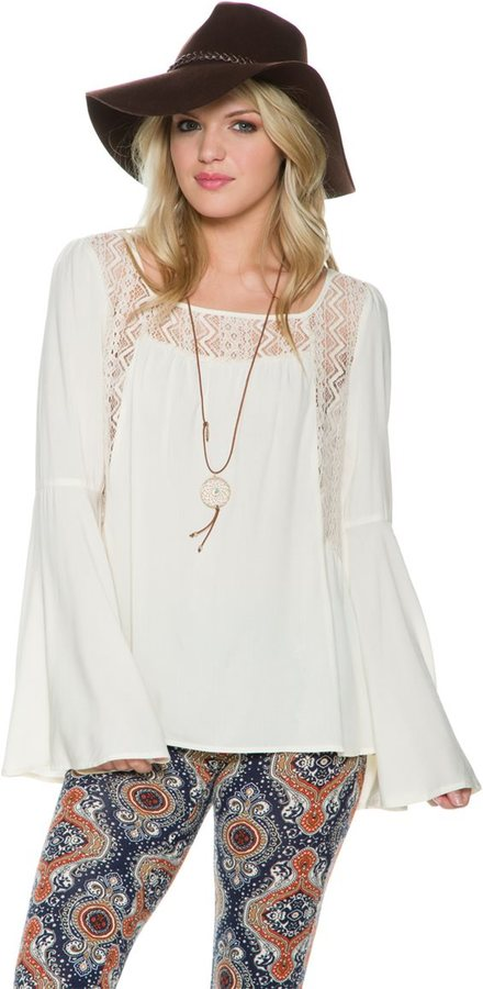 Swell Preview Ls Bell Sleeve Top