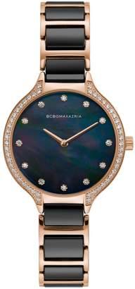 BCBGMAXAZRIA Classic Two-Tone Stainless Steel Bracelet Watch