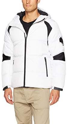 Southpole Men's Omni-Heat Mid Shell Bubble Hooded Outerwear Jacket