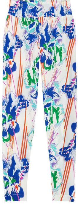 Tucker Printed silk crepe de chine pants