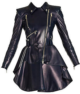 Alexander McQueen Women's Peplum Leather Jacket
