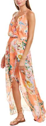 Lavender Brown Racerback Faux Wrap Dress