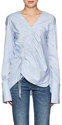 Teija Women's Smocked Striped Cotton Blouse