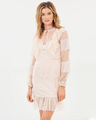 Cooper St Flute Mini Lace Dress