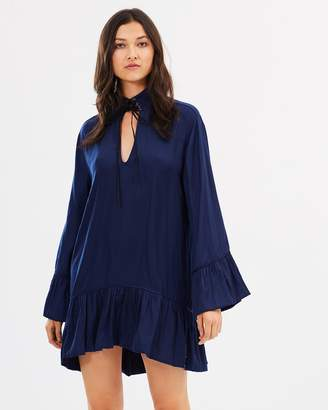 One Teaspoon Texan Rose Faux Silk Dress