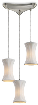 Bed Bath & Beyond ELK Lighting Cerama 3-Light Concave Shade Pendant (Satin Nickel)