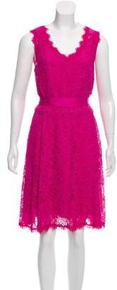 Diane von Furstenberg Mini Sleeveless Lace Dress