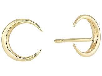 Dee Berkley 14Kt Solid Gold Crescent Moon Stud Earrings
