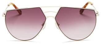 Chloé Ricky Triple Bridge Gradient Aviator Sunglasses, 62mm