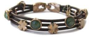 Lucky Brand Jade and Leather Bracelet