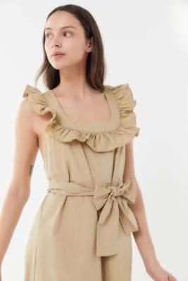 c8222f8447c1 Urban Outfitters Ruffle Poplin Midi Dress