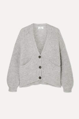 Allude Ribbed-knit Cardigan - Gray