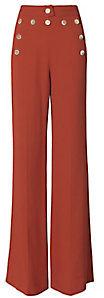 Derek Lam High-Waisted Button Detail Flare Pants $1,495 thestylecure.com