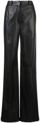 Altuzarra 'Franco' Wide-Leg Leather Pant