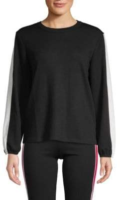 Supply & Demand Daisey Striped Sleeve Pullover
