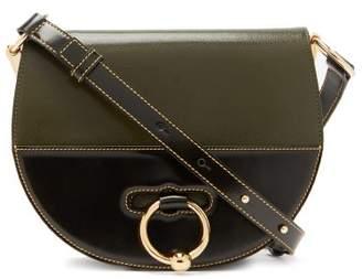 J.W.Anderson Latch Leather Cross Body Bag - Womens - Khaki