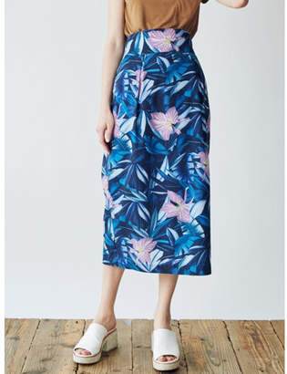 LAGUNAMOON (ラグナムーン) - LAGUNAMOON リーフアロハラップスカート
