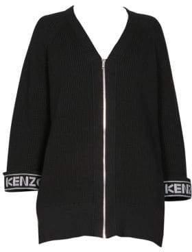 Kenzo Logo Zip Cardigan