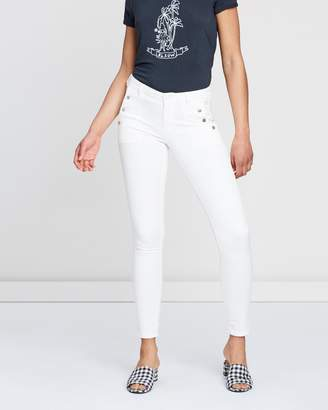 Maison Scotch Skinny Fit with Press Button Detail Jeans