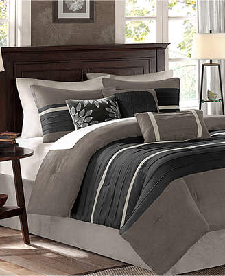 Madison Park Palmer Microsuede 7-Pc. King Comforter Set Bedding