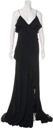 Ralph Lauren Purple Label Cold Shoulder Maxi Dress