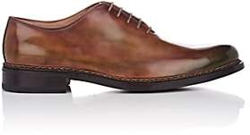 Fratelli Giacometti Men's Burnished Leather Wholecut Balmorals - Brown, Grn, Red