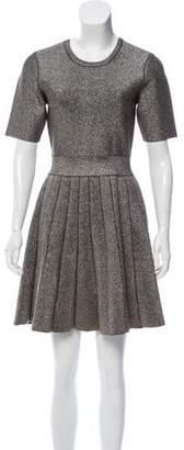 A.L.C. Metallic Pleated Dress