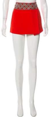 Isabel Marant Crepe Embellished Skirt