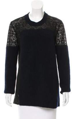Thakoon Wool Lace Sweater
