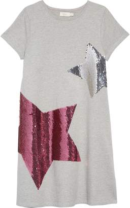 Boden Mini Shimmer Flip Sequin Star T-Shirt Dress