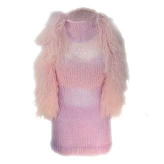 Swarovski Claire Andrew - Fringed Mane Knit Vest with Detail