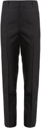 Saint Laurent High-rise slim-leg wool cropped trousers