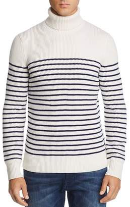 Bloomingdale's The Men's Store at Striped Merino Wool Turtleneck Sweater - 100% Exclusive