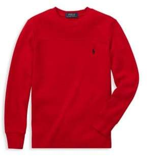 Ralph Lauren Childrenswear Boy's Waffle-Knit Long-Sleeve Tee