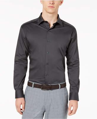 Alfani AlfaTech by Men Solid Athletic Fit Dress Shirt