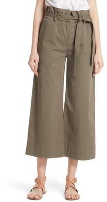Frame Paperbag Waist Wide Leg Crop Pants
