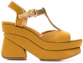 Chie Mihara Vreni satin platform sandals