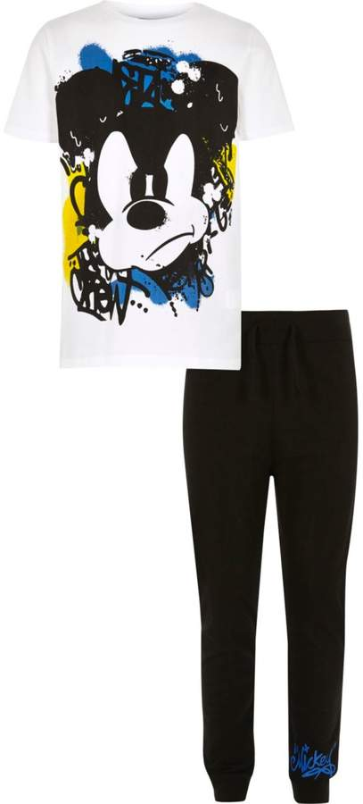 Boys White Mickey Mouse pyjama set