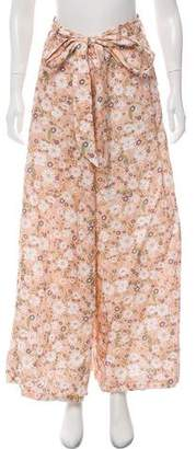Miguelina Floral Wide-Leg Pants