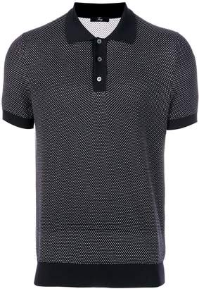 Fay dotted polo shirt