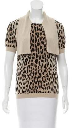 Valentino Wool Short Sleeve Sweater