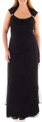 JCPenney Scarlett Sleeveless Side-Drape Gown - Plus