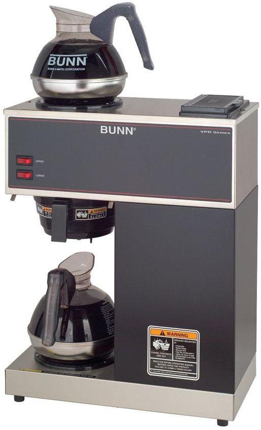 Bunn 12-Cup Pourover Commercial Coffee Brewer with 2 Easy Pour Decanters