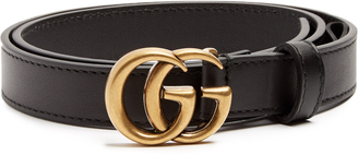 GUCCI GG-logo 2cm leather belt $330 thestylecure.com